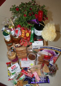 Yummy selection of Christmas goodies that went into each hamper.